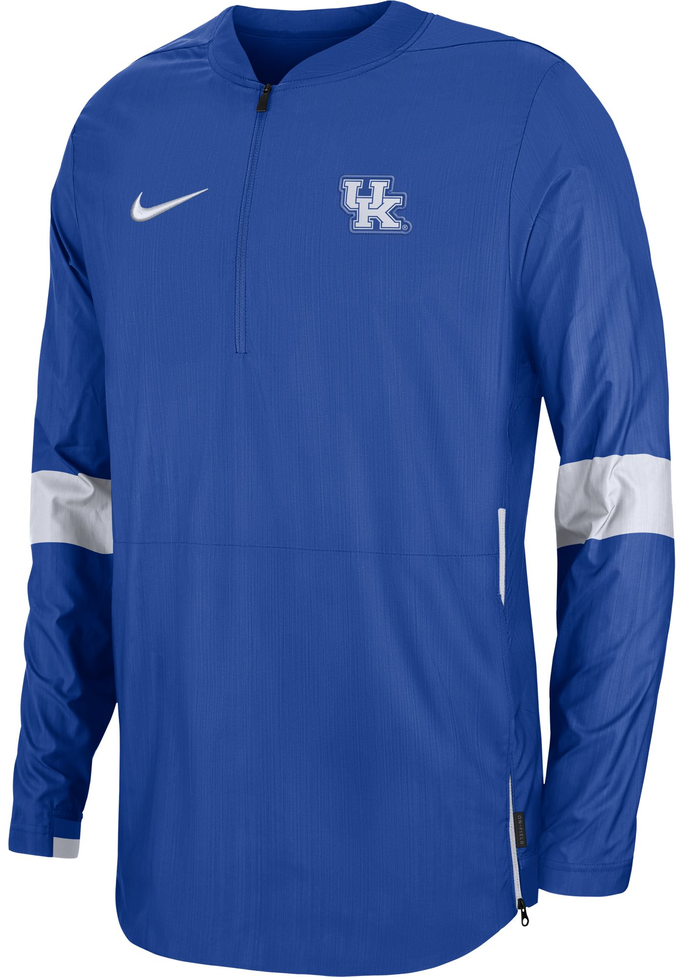 Nike Men's Kentucky Wildcats Blue Lockdown Half-Zip Football Jacket