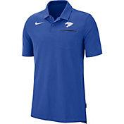 Nike Men's Kentucky Wildcats Blue Dri-FIT Elite Football Sideline Polo