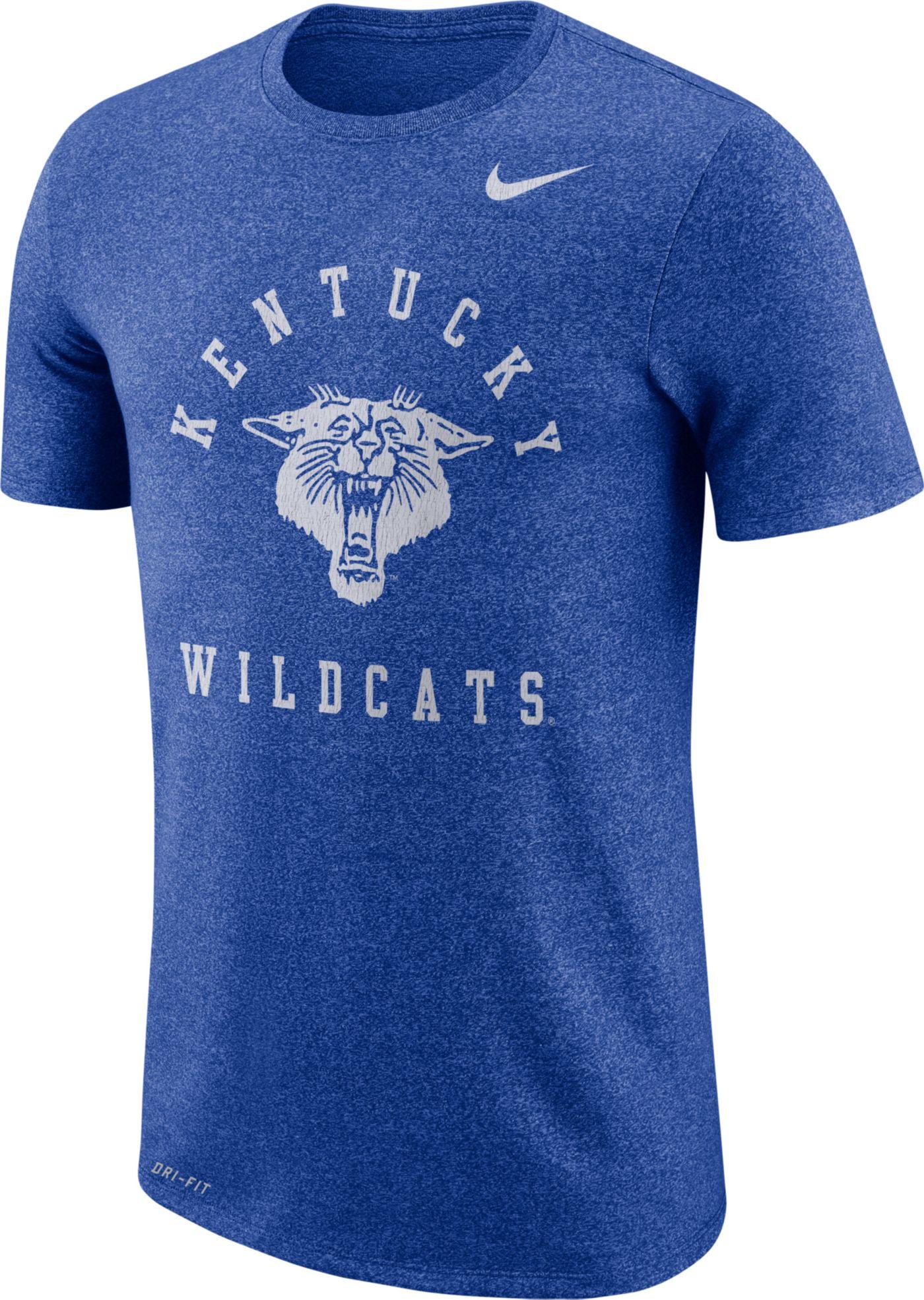 Nike Men's Kentucky Wildcats Blue Marled Raglan T-Shirt