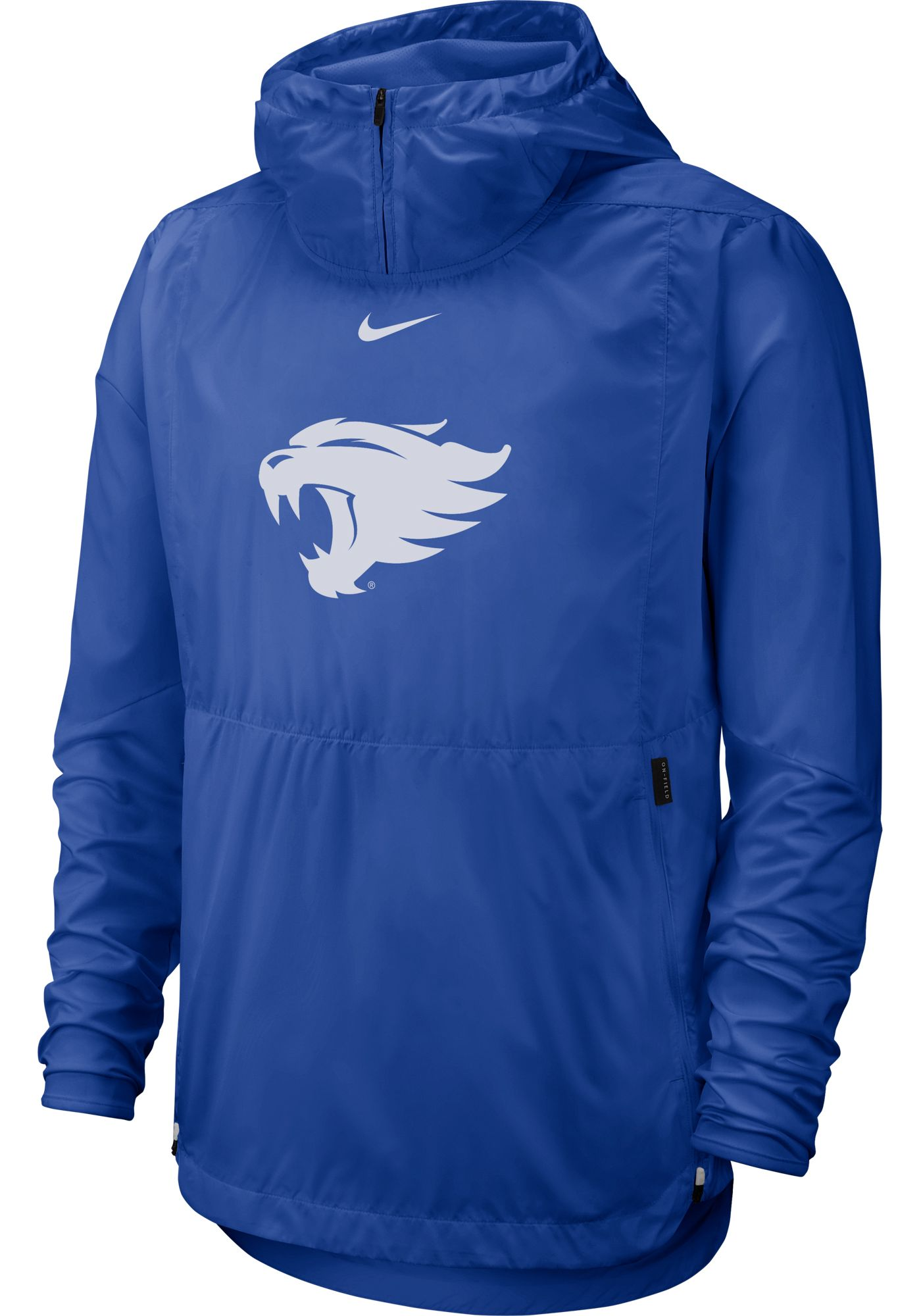 Nike Men's Kentucky Wildcats Blue Repel Football Sideline Player Pullover Hoodie