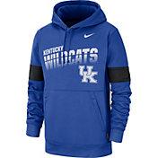 Nike Men's Kentucky Wildcats Blue Therma Football Sideline Pullover Hoodie