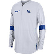Nike Men's Kentucky Wildcats Lockdown Half-Zip Football White Jacket