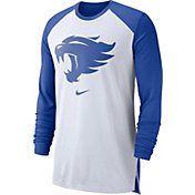 Nike Men's Kentucky Wildcats White/Blue Breathe Long Sleeve Shirt