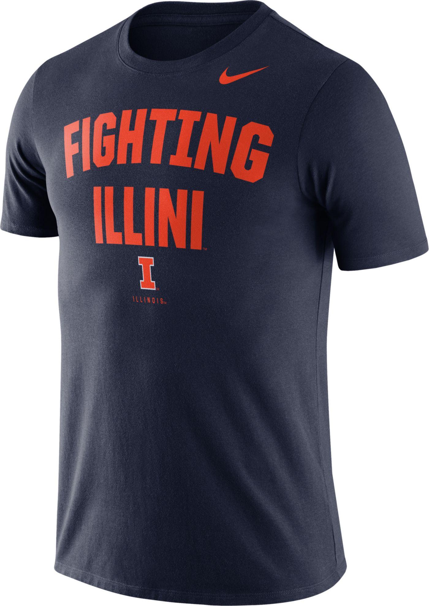 Nike Men's Illinois Fighting Illini Blue Dri-FIT Phrase T-Shirt
