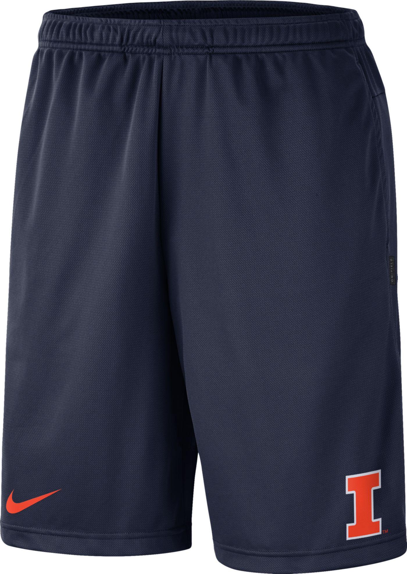 Nike Men's Illinois Fighting Illini Blue Dri-FIT Coach Shorts