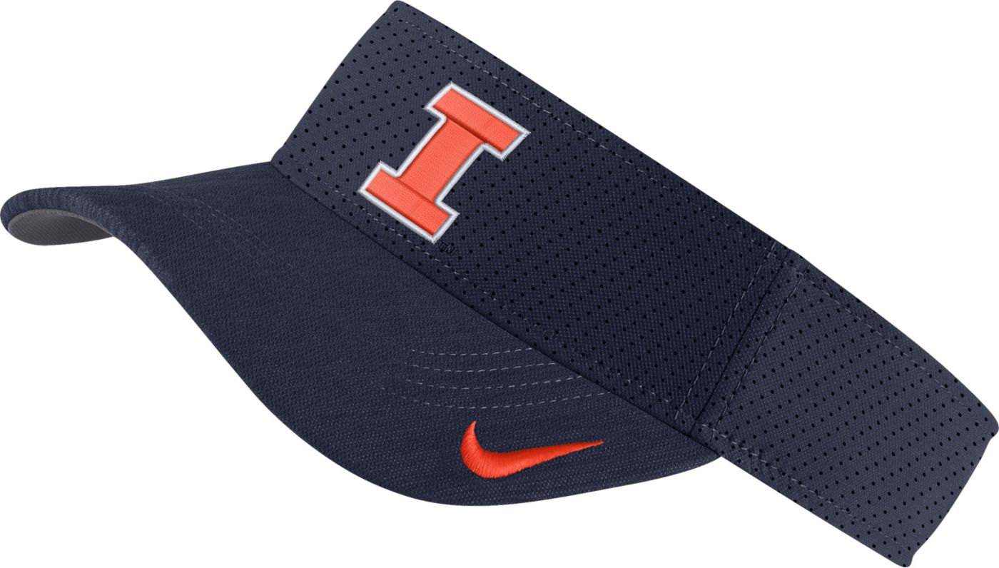 Nike Men's Illinois Fighting Illini Blue AeroBill Football Sideline Visor