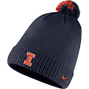 Nike Men's Illinois Fighting Illini Blue Football Sideline Pom Beanie