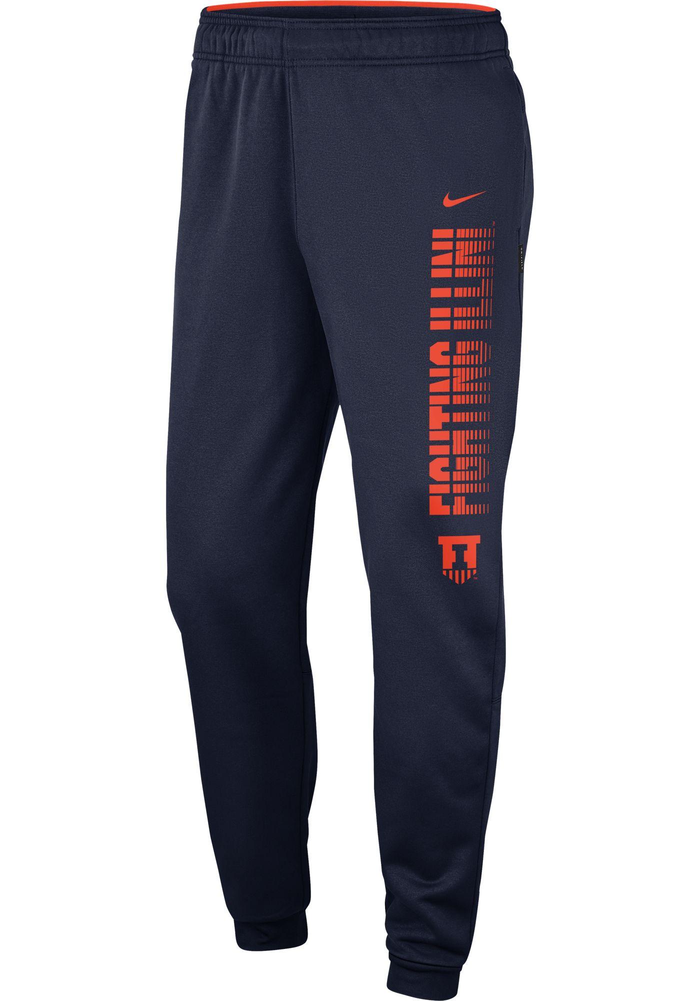 Nike Men's Illinois Fighting Illini Blue Therma Tapered Pants