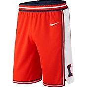 Nike Men's Illinois Fighting Illini Orange Replica Basketball Shorts