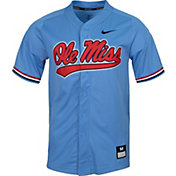 Nike Men's Ole Miss Rebels Blue Dri-FIT Replica Baseball Jersey