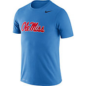 Nike Men's Ole Miss Rebels Blue Logo Dry Legend T-Shirt