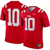 Nike Men's Ole Miss Rebels #10 Red Dri-FIT Legend Football Jersey