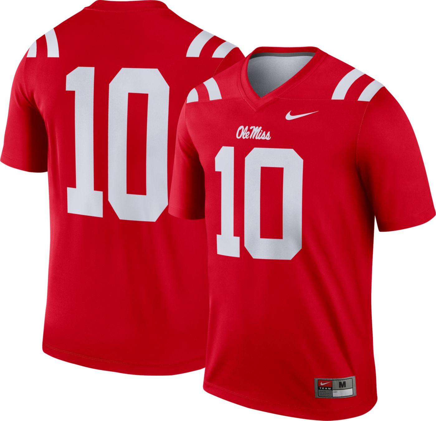 Nike Men's Ole Miss Rebels #10 Red Dri-FIT Legend Football Jersey