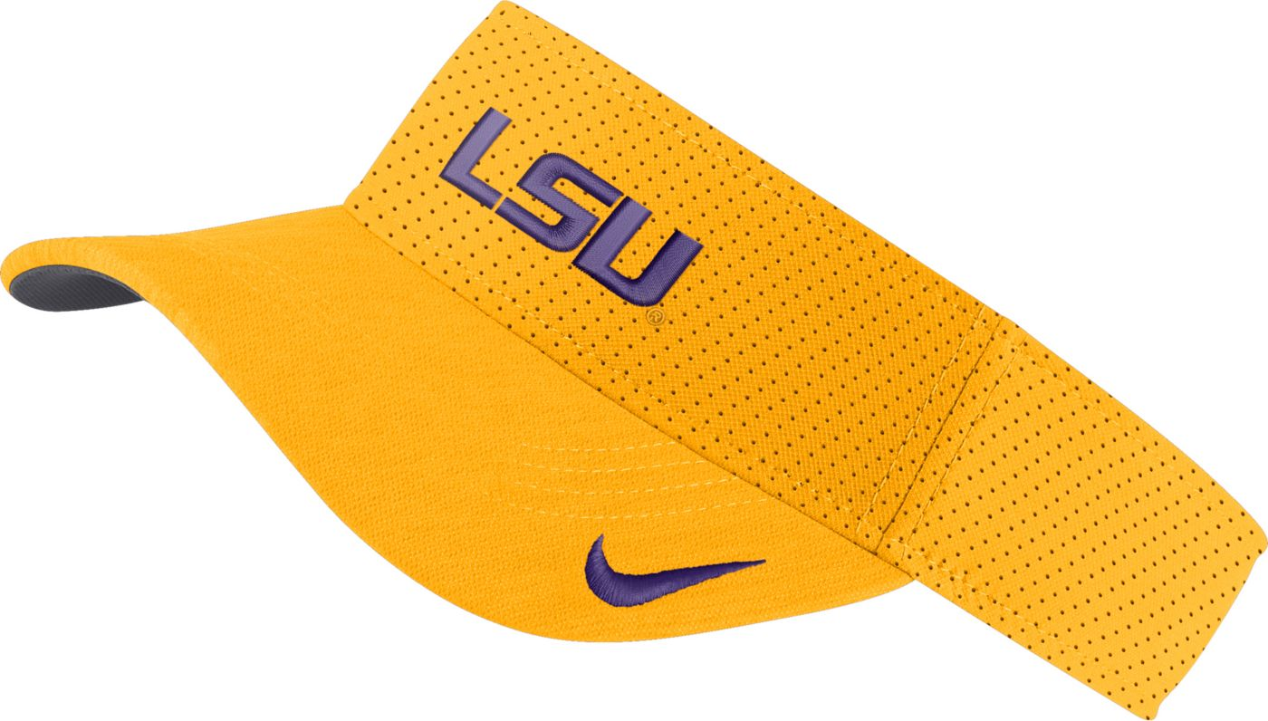 Nike Men's LSU Tigers Gold AeroBill Football Sideline Visor