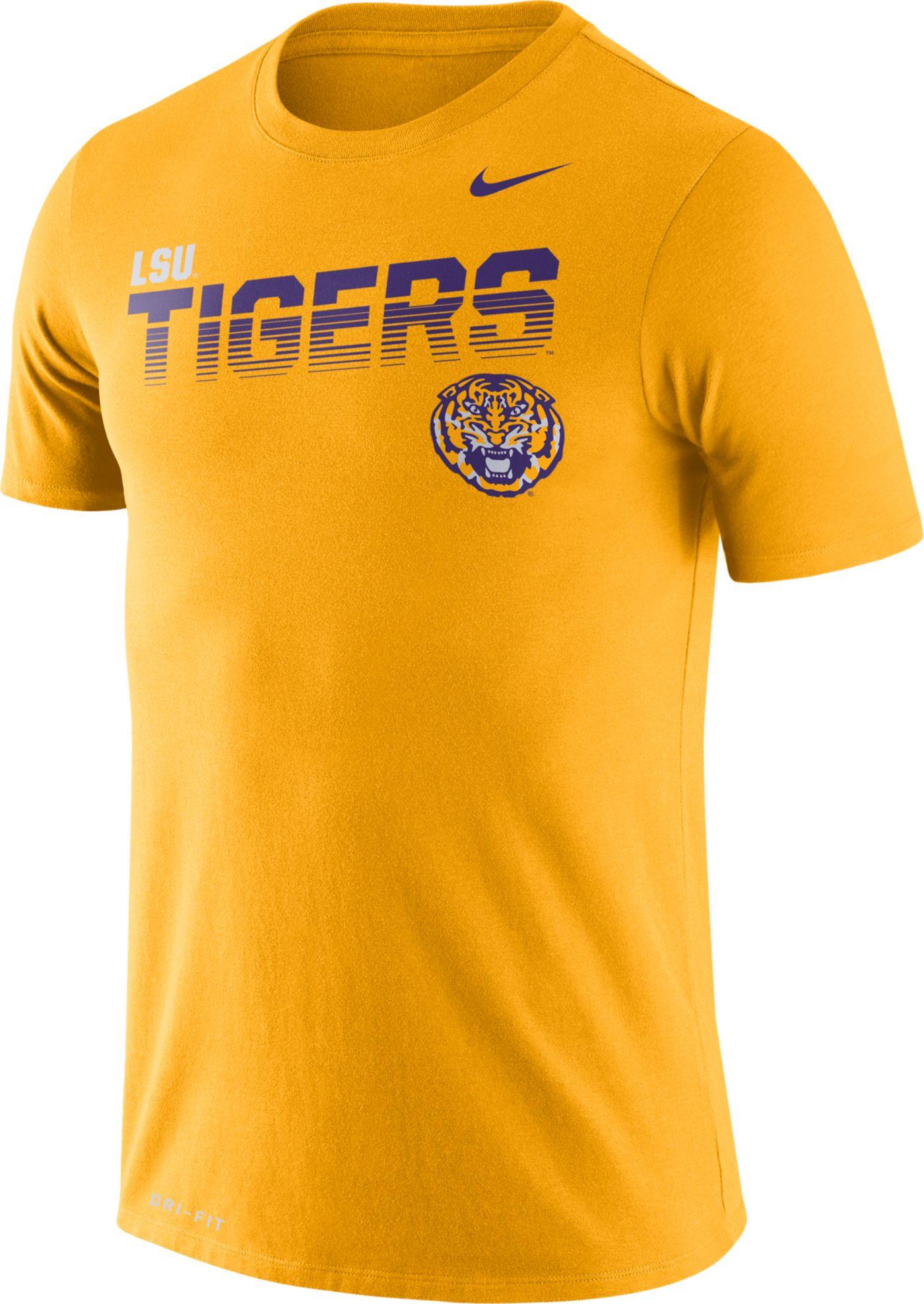Nike Men's LSU Tigers Gold Legend Football Sideline T-Shirt