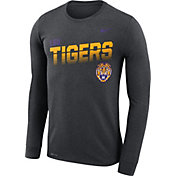 Nike Men's LSU Tigers Grey Legend Football Sideline Long Sleeve T-Shirt