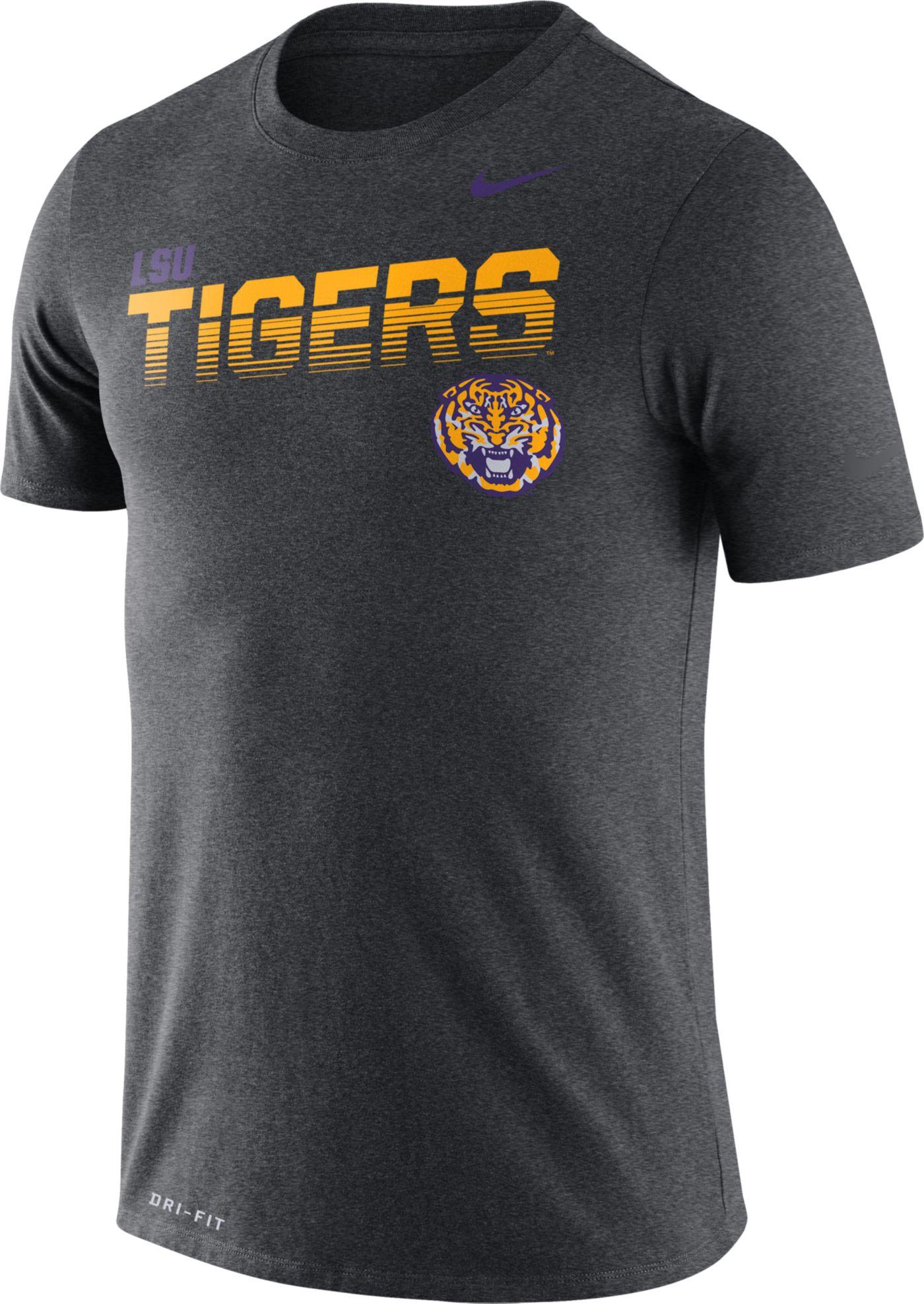 Nike Men's LSU Tigers Grey Legend Football Sideline T-Shirt