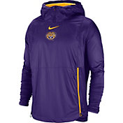 Nike Men's LSU Tigers Purple Pullover Fly Rush Jacket