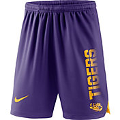 Nike Men's LSU Tigers Purple Breathe Player Shorts