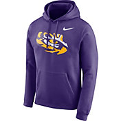 Nike Men's LSU Tigers Purple Club Fleece Pullover Hoodie
