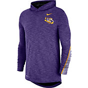 Nike Men's LSU Tigers Purple Cotton Long Sleeve Hoodie T-Shirt