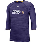 Nike Men's LSU Tigers Purple Dry Legend 3/4 Sleeve T-Shirt