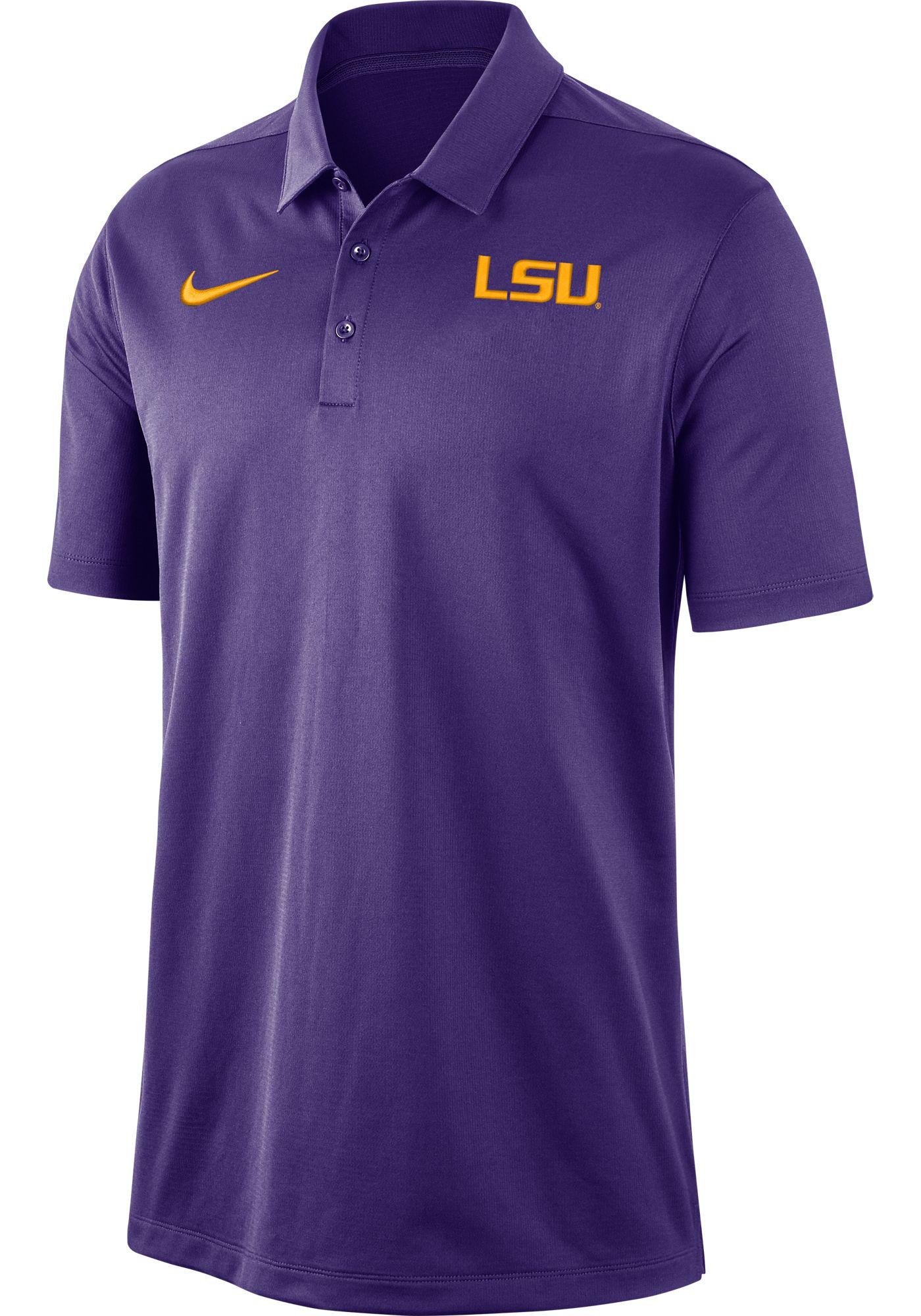 Nike Men's LSU Tigers Purple Dri-FIT Franchise Polo