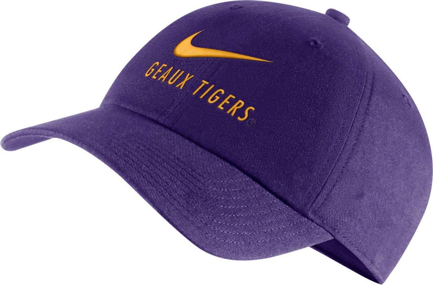 Nike Men's LSU Tigers Purple Heritage86 Adjustable Hat
