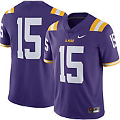 Nike Men's LSU Tigers #15 Purple Limited Football Jersey