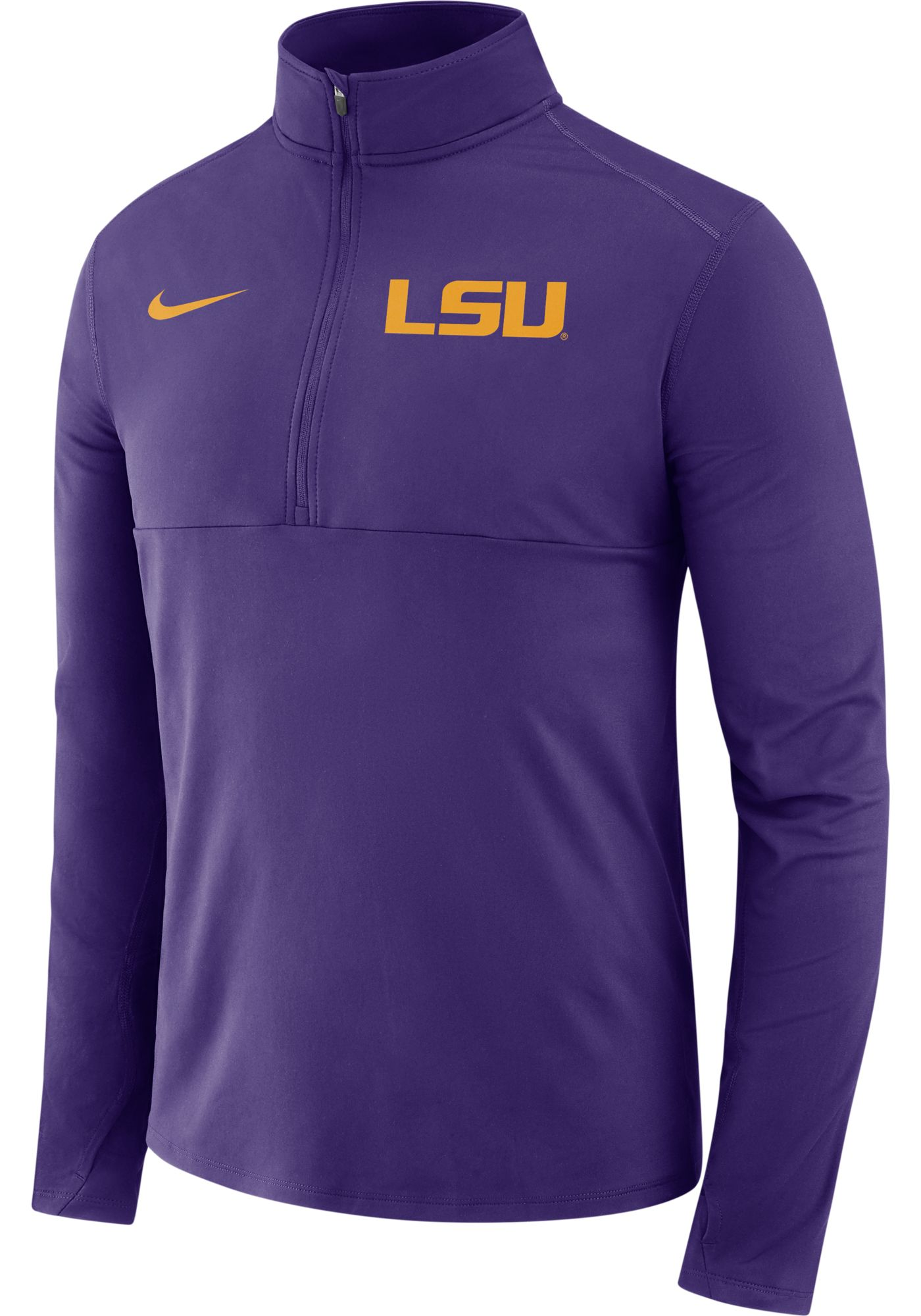 Nike Men's LSU Tigers Purple Long Sleeve Core Half-Zip Shirt