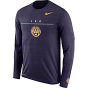 Nike Men's LSU Tigers Purple Velocity Legend Graphic Long Sleeve T-Shirt