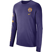 Nike Men's LSU Tigers Purple Dri-FIT Elevated Basketball Long Sleeve Shirt