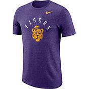 Nike Men's LSU Tigers Purple Marled Raglan T-Shirt