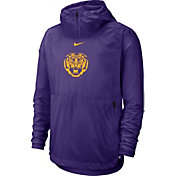Nike Men's LSU Tigers Purple Repel Football Sideline Player Pullover Hoodie