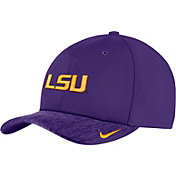 Nike Men's LSU Tigers Purple Aerobill Swoosh Flex Classic99 Football Sideline Hat