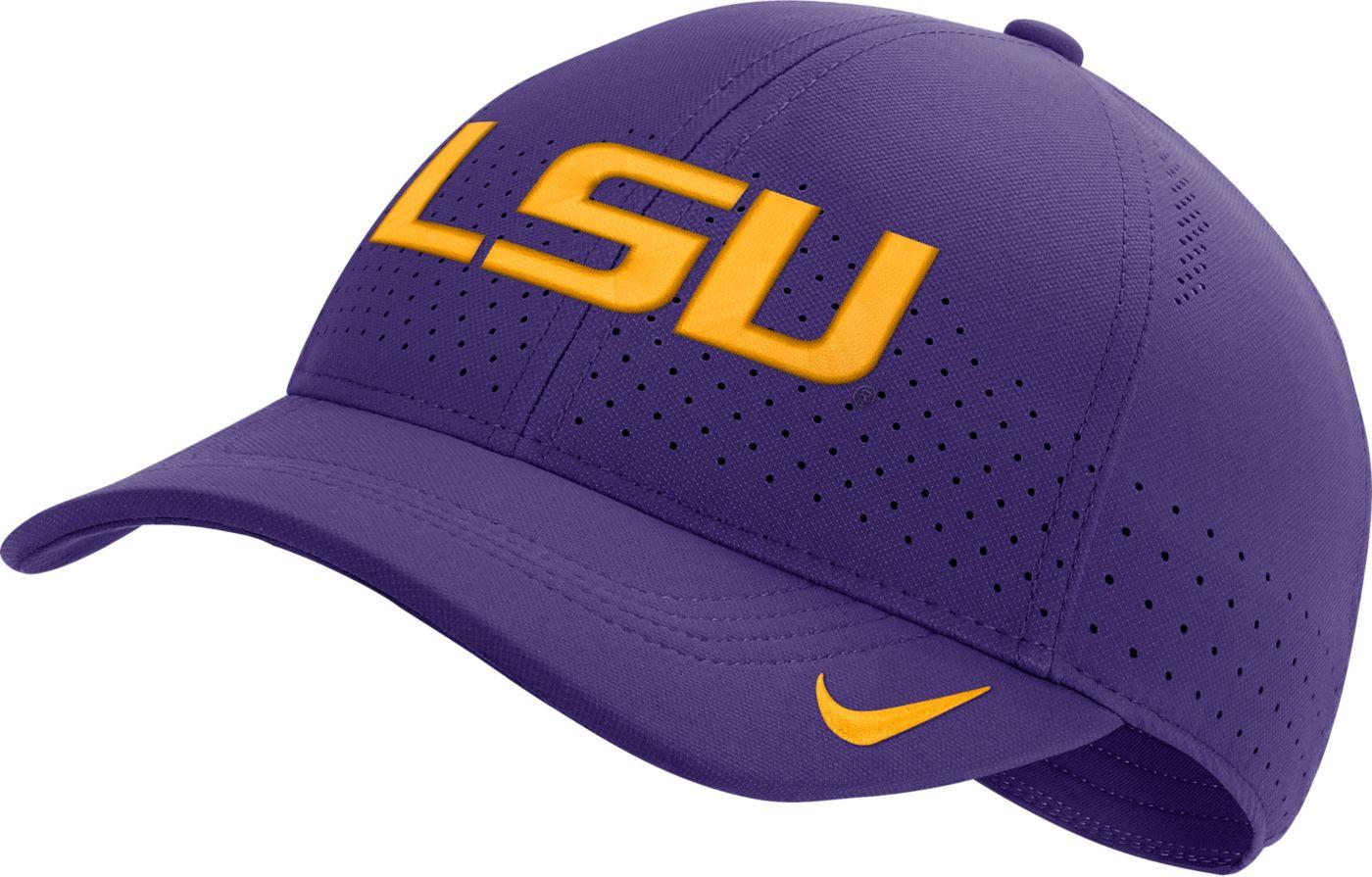 Nike Men's LSU Tigers Purple Aerobill Classic99 Football Sideline Hat