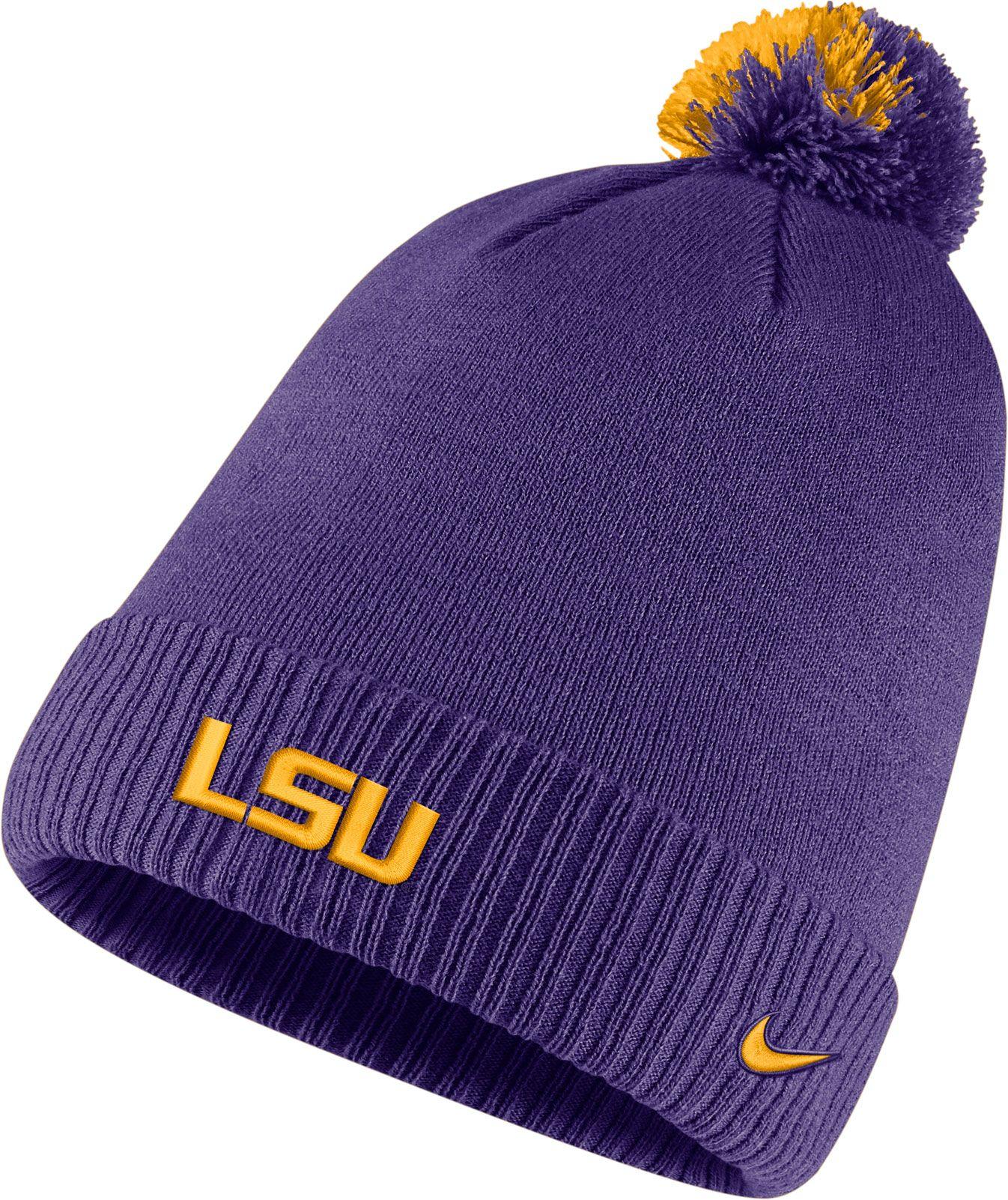 db11e10e8e5 cheapest nike mens lsu tigers purple football sideline pom beanie 7a080  8ab7b