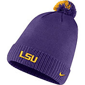 Nike Men's LSU Tigers Purple Football Sideline Pom Beanie