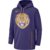 Nike Men's LSU Tigers Purple Therma-FIT Pullover Hoodie
