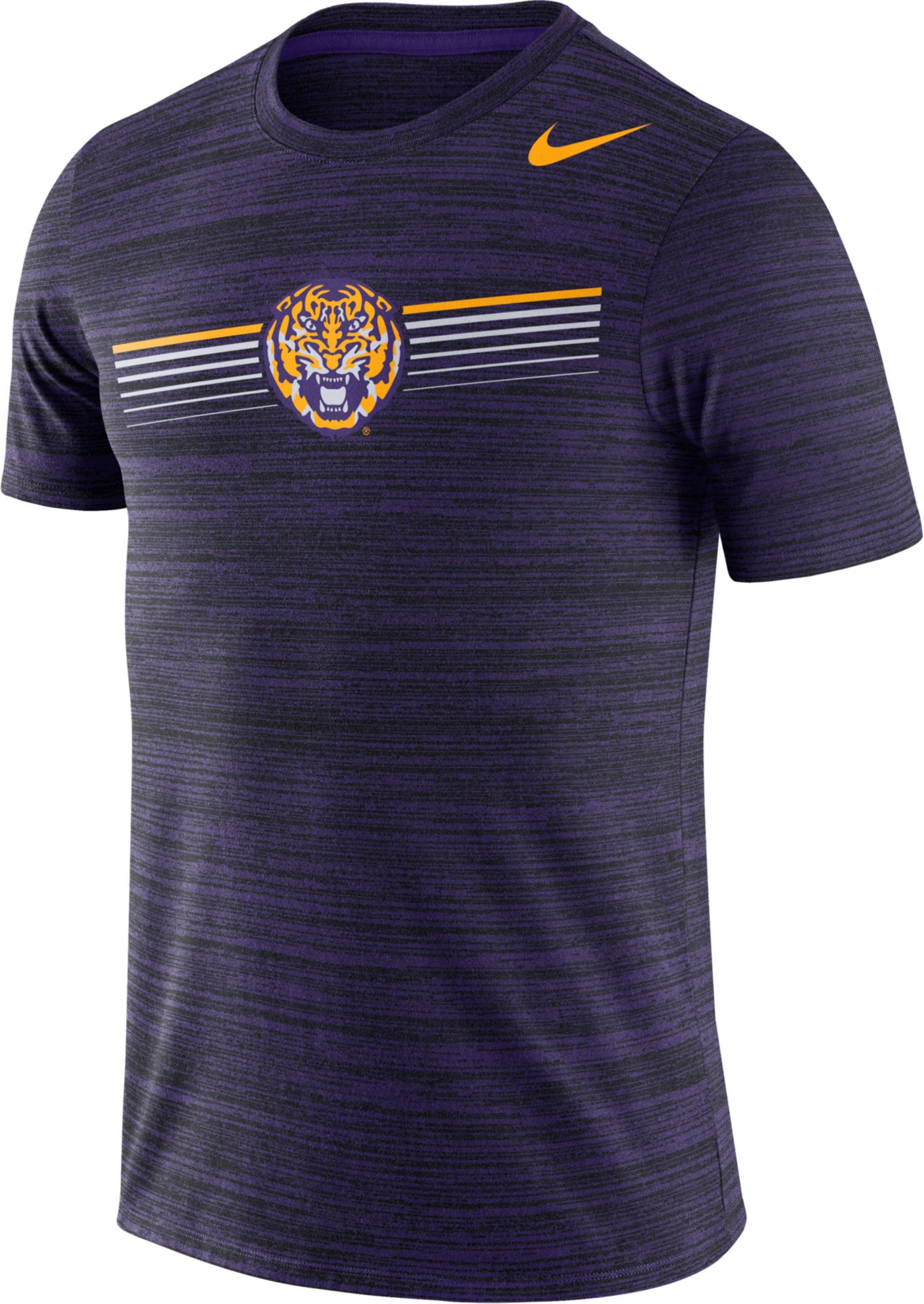 Nike Men's LSU Tigers Purple Velocity Legend Graphic T-Shirt
