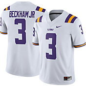 Nike Men's Odell Beckham Jr. LSU Tigers #3 Dri-FIT Game Football White Jersey