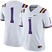 Nike Men's LSU Tigers #1 Game Football White Jersey
