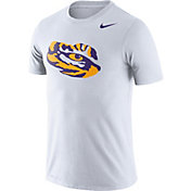 Nike Men's LSU Tigers Logo Dry Legend White T-Shirt