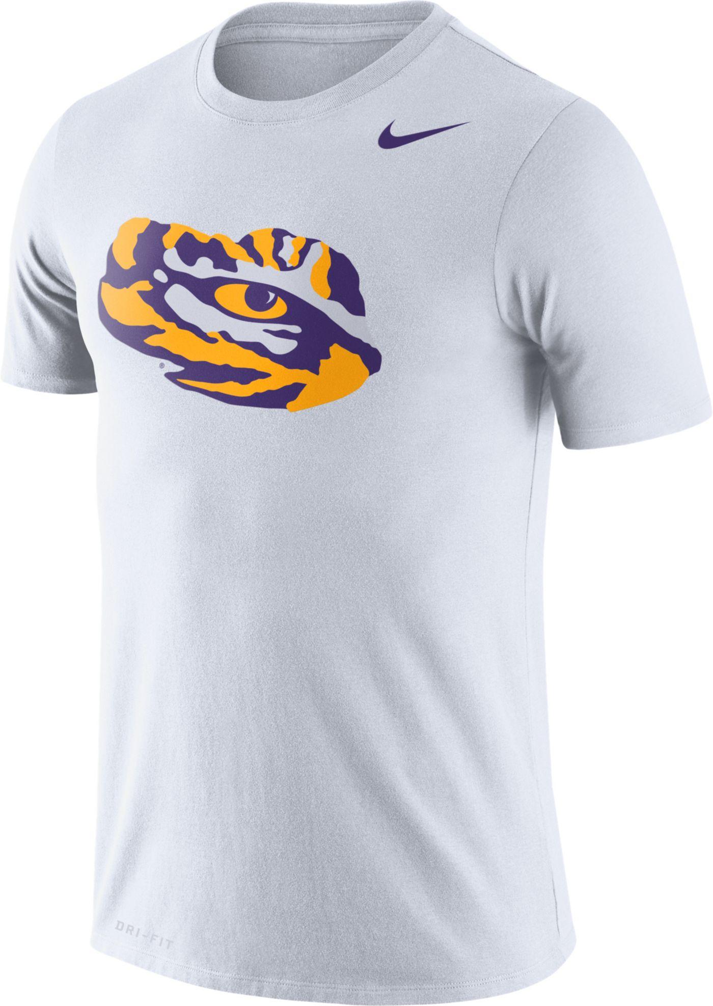 Nike Men's LSU Tigers Logo Dry Legend White T-Shirt