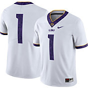 Nike Men's LSU Tigers #1 Limited Football White Jersey