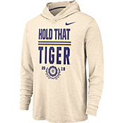 Nike Men's LSU Tigers Dri-FIT Slub Rivalry Long Sleeve White Hooded Tee