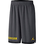 Nike Men's Michigan Wolverines Anthracite Dri-FIT Dribble Basketball Shorts