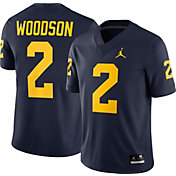 Jordan Men's Charles Woodson Michigan Wolverines #2 Blue Dri-FIT Game Football Jersey