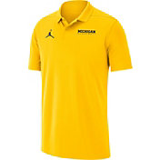 Jordan Men's Michigan Wolverines Maize Victory Basketball Polo
