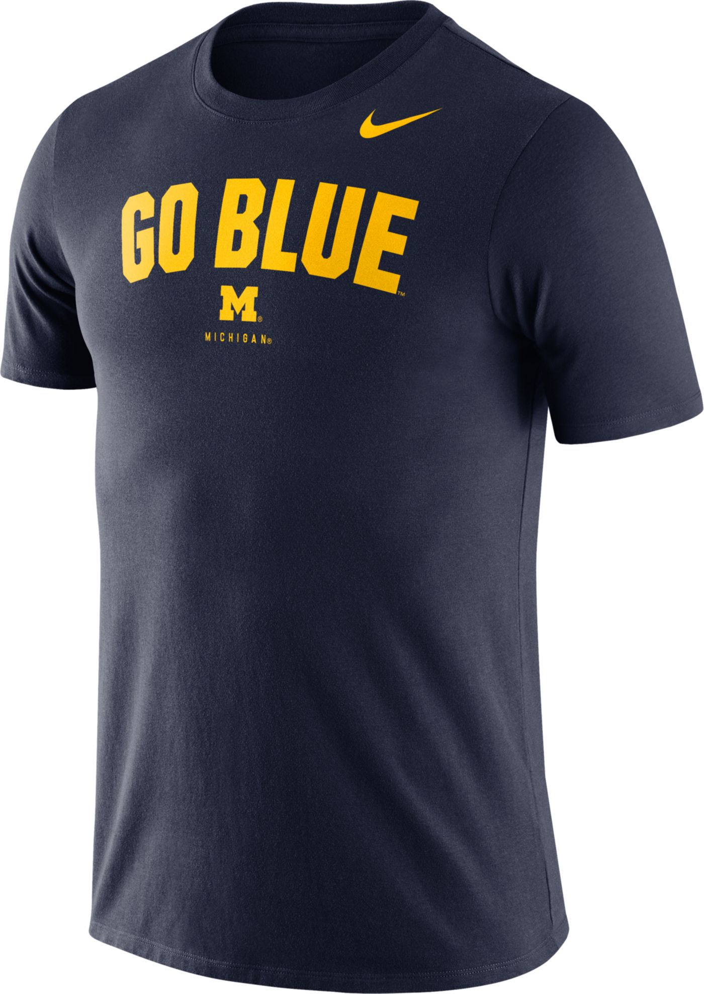 Nike Men's Michigan Wolverines Blue Dri-FIT Phrase T-Shirt